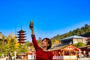 宮島ビールと五重の塔